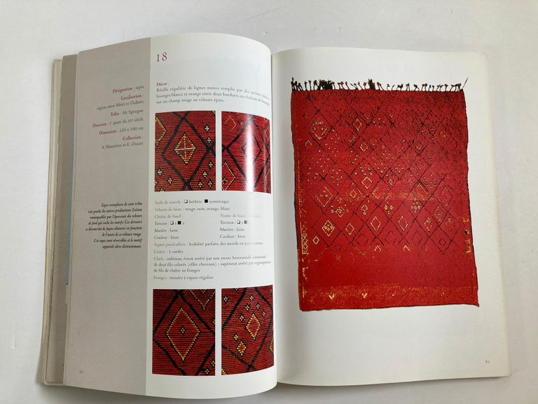 Maroc Tapis de tribus 'French' Moroccan Tribal Rugs Paperback Book For Sale 3