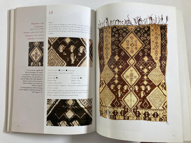 Maroc Tapis de tribus 'French' Moroccan Tribal Rugs Paperback Book For Sale 4