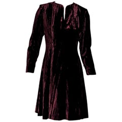 Maroon Vintage Yves Saint Laurent Rive Gauche Dress