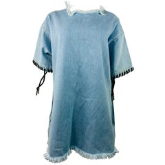 Marques Almeida Blue Denim Mini Dress Size XS