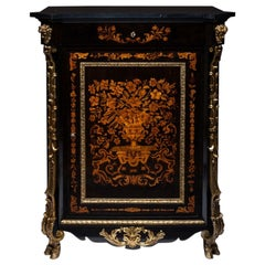 Marquetry Cabinet Attributed to P. Sormani France 1870