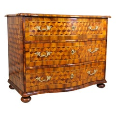 Marquetry Chest of Drawers Baroque 18th Century, Austria, circa 1760