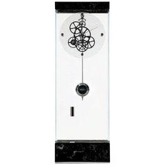 Marquina Black Adagio Teckell Takto Contemporary Mechanical Floor Clock