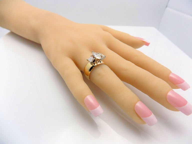 Marquis and Princess Cut Diamond Band For Sale 1