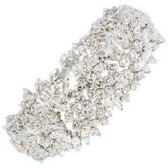 Marquise and Round Diamond Bracelet
