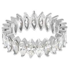 Marquise Cut Diamond Eternity Band in Platinum