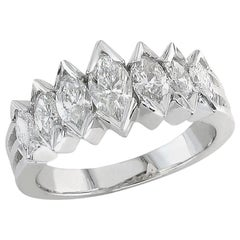 Marquise Cut Diamond Wedding Ring