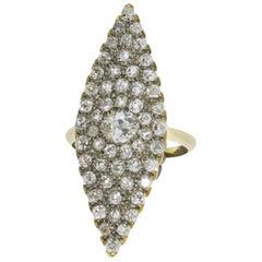 Marquise Diamond 18 Carat Gold Ring