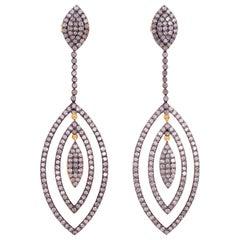 Marquise Diamond Drop Earrings