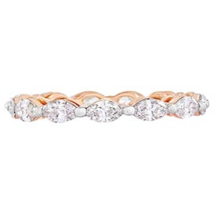 Marquise Diamond Eternity Ring 1.22 Carat in 18 Karat Rose Gold
