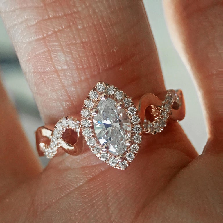 AS013 - 1300064 Can be sized to any finger size, ring will be made to order and take approximately 3-6 business weeks. Price shown is for diamond with the ring in your size, if you want to use your own diamond or a different one to change the price