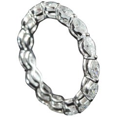 Marquise Diamond Horizontal Eternity Ring in 18 Karat Gold