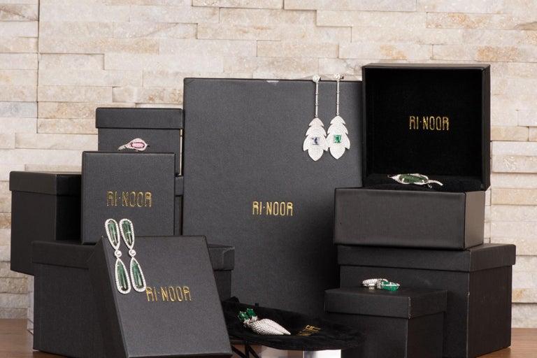 Women's or Men's Marquise Diamond Octagon Stud Earrings For Sale