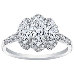 Marquise Diamonds Engagement Ring