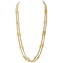 Marquise Link Gold Chain