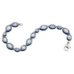 Marquise Moonstone Bracelet in Blue Zirconium by Zoltan David