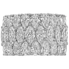 Marquise and Pear Diamond Ring '5.79 Carat'