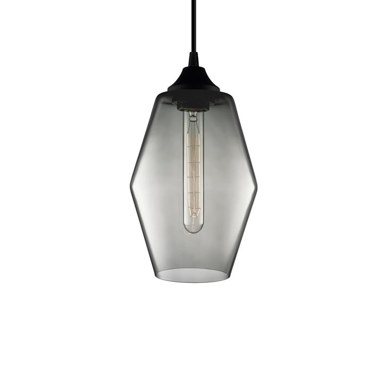Marquise Pee Gray Handn Modern Gl Pendant Light Made In The Usa For