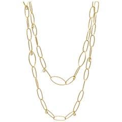Marquise Small Diamond Gold 18 Karat Necklace