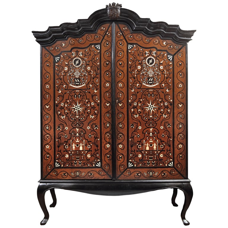Colonial Marriage Cabinet of Governor Diederik Durven of the Dutch East-Indies For Sale