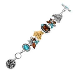 Mars & Valentine Floral Autumn Sterling Silver Bracelet