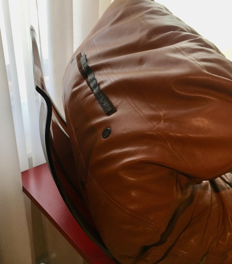 Late 20th Century Marsala Leather Chair by Michel Ducaroy for Ligne Roset, France, 1970 For Sale