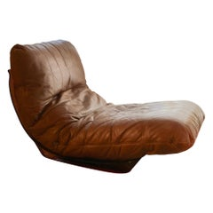 Marsala Leather Chair by Michel Ducaroy for Ligne Roset, France, 1970