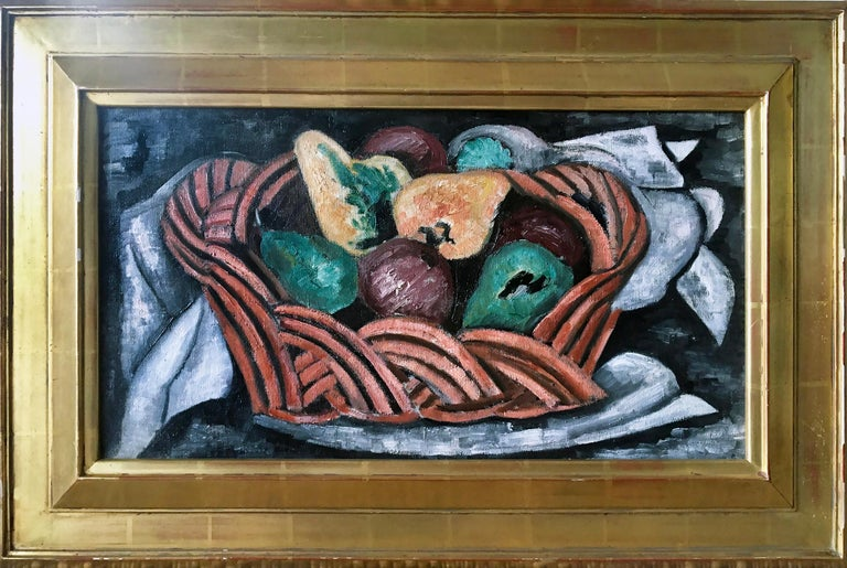 Basket with Fruit - Painting by Marsden Hartley