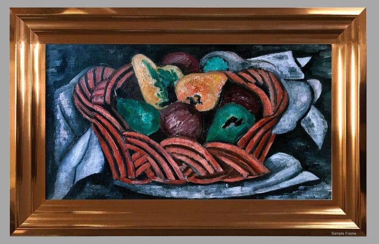 Basket with Fruit - Modern Painting by Marsden Hartley