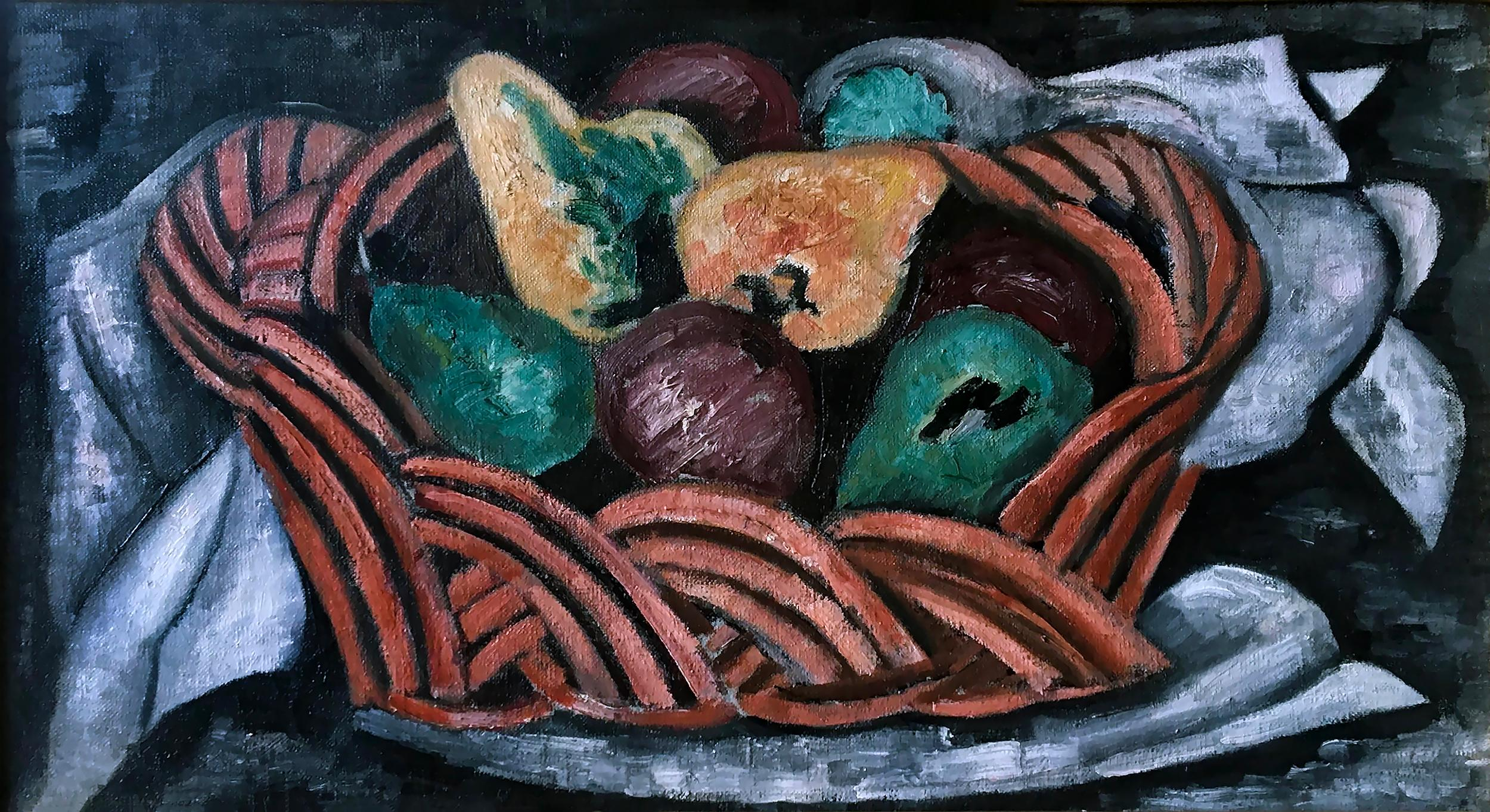 Basket with Fruit