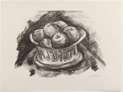 Lithograph from 1923 Marsden Hartley Berlin Print series -Apples in Basket, 1923