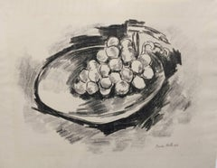 Lithograph from 1923 Marsden Hartley Berlin Print - Grapes in Bowl, 1923
