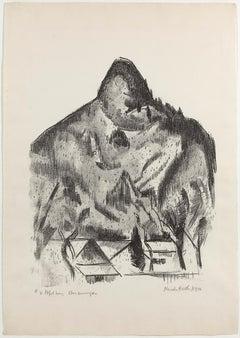Lithograph by Marsden Hartley, Bavarian Print - Kofelberg, 1934