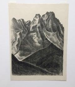 Lithograph by Marsden Hartley, Bavarian Print - Waxenstein 1933