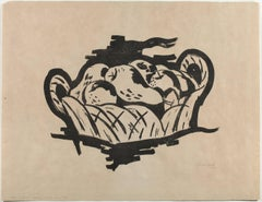 Lithograph from 1923 Marsden Hartley Berlin Print - Pears in Basket, 1923