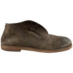 MARSELL Size 8 Brown Suede Listello 1731 Slip On Boots