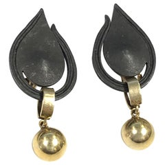 Marsh & Company Vintage Steel and Gold Earrings