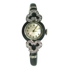 Marsh Steel, Diamond and Gold Wristwatch