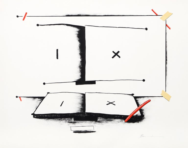 Marshall Borris Abstract Print - Book and Pen