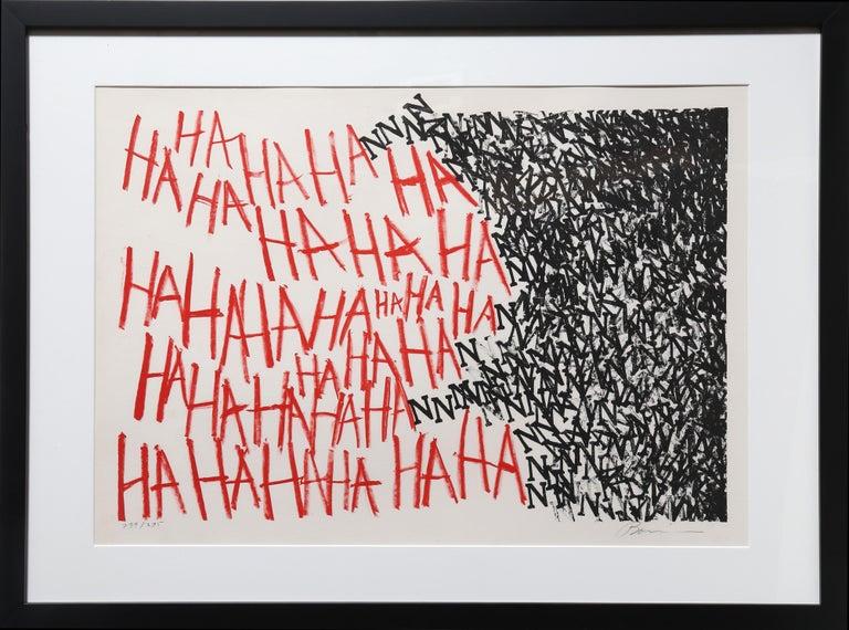 Marshall Borris Abstract Print - HaHaHa