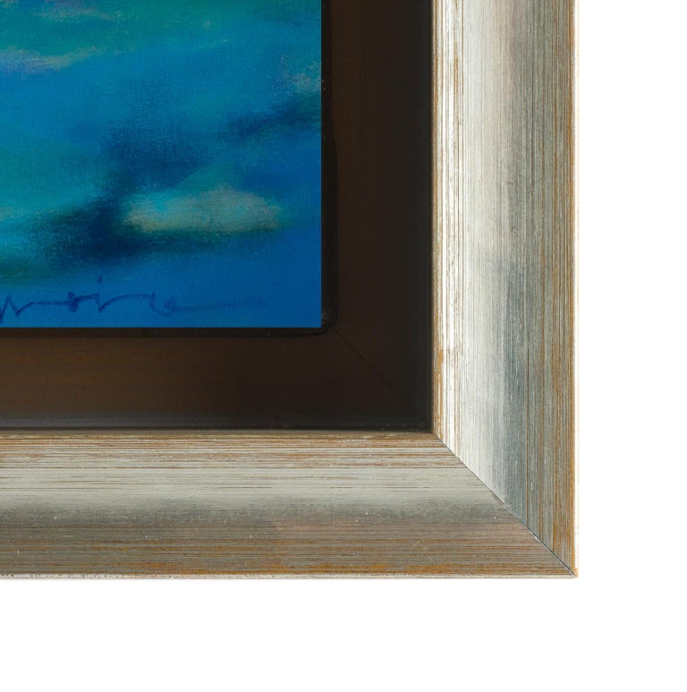 This piece is framed. The price reflects the framed piece. Unframed dimensions: 40 × 59.75 inches.  Marshall Noice passionately admires western landscapes, and conveys that love through vibrant colors that illuminate his compositions. Residents of