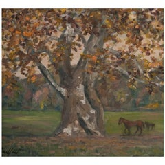 """""""Marshall Sycamore"""" Painting by Richard Chalfant"""