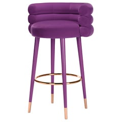 Marshmallow Bar Stool, Royal Stranger