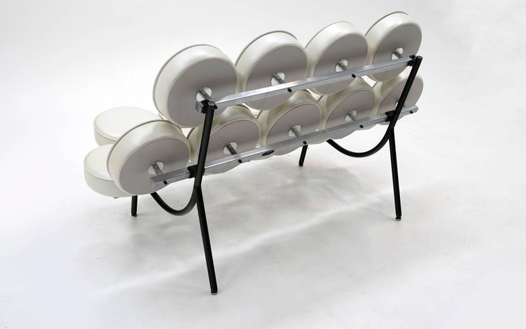 Marshmallow Sofa by Irving Harper / George Nelson White Metallic Edelman Leather 2