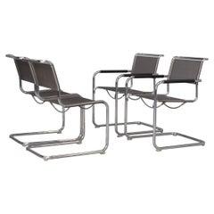 Mart Stam & Marcel Breuer S34 Cantilever Chair for Thonet Set/4