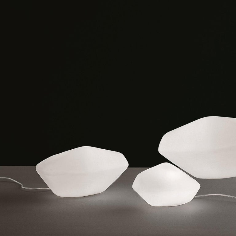 Italian Marta Laudani & Marco Romanelli Large Table Lamp 'Stone of Glass' by Oluce For Sale