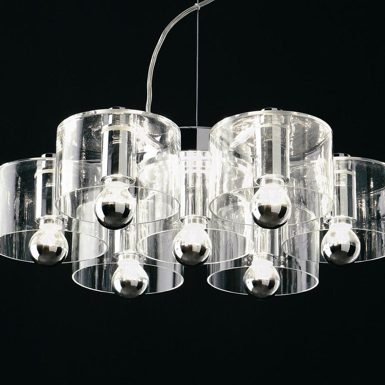 Mid-Century Modern Marta Laudani & Marco Romanelli Suspension Lamp 'Fiore' 423 by Oluce For Sale