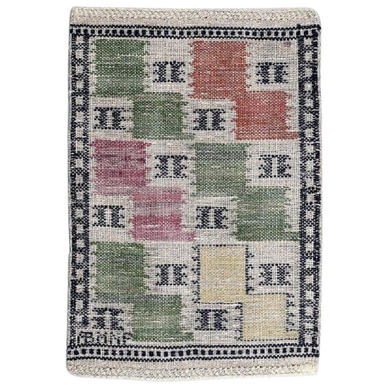 """Märta Måås-Fjetterström Handwoven Carpet, Wool, """"Rölakan"""" Technique"""