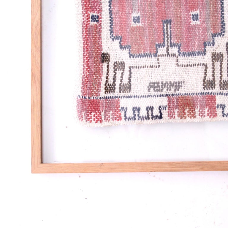 A beautiful handwoven textile in tapestry technique by Marta Maas-Fjetterström.