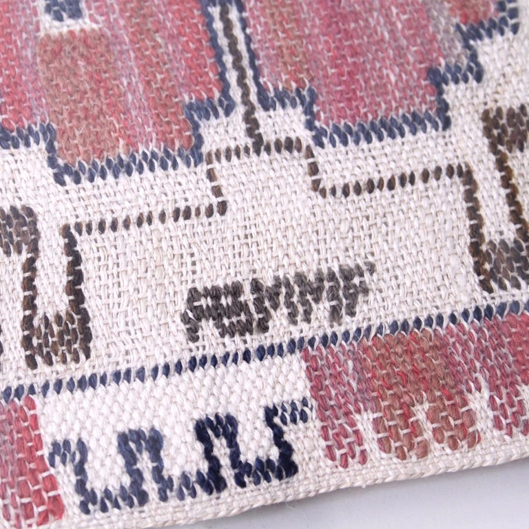 Marta Maas-Fjetterström Framed Handwoven Wall Tapestry In Good Condition For Sale In Copenhagen, DK